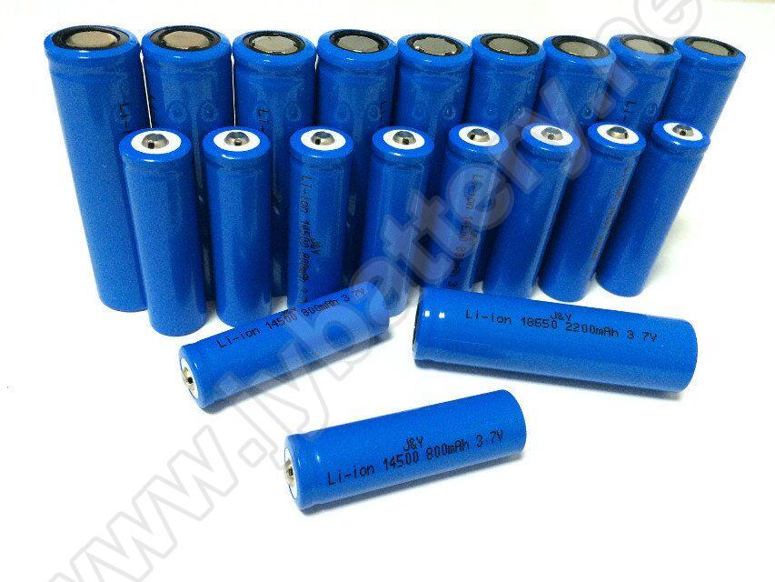 3.7v 18650 lithium li ion battery 1500mah-3000mah